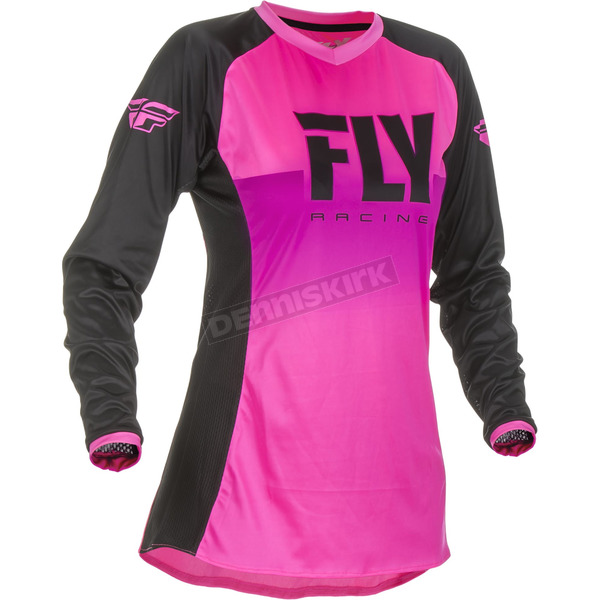 Youth Girl's Neon Pink/Black Lite Jersey - 372-628YM