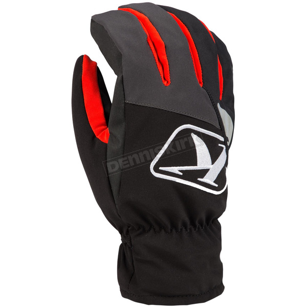 Klim Black/Dark Gray/Red Klimate Short Gloves - 3233-000-150-100