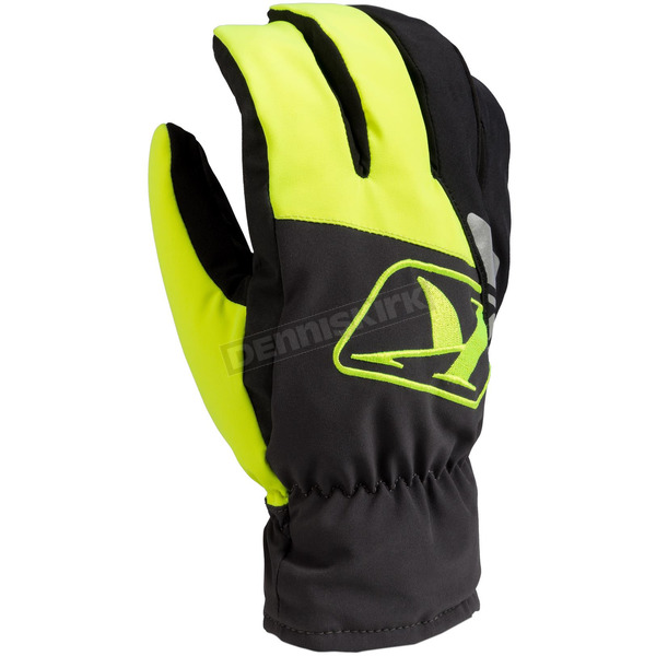 Klim Hi-Vis/Black Klimate Short Gloves - 3233-000-120-500