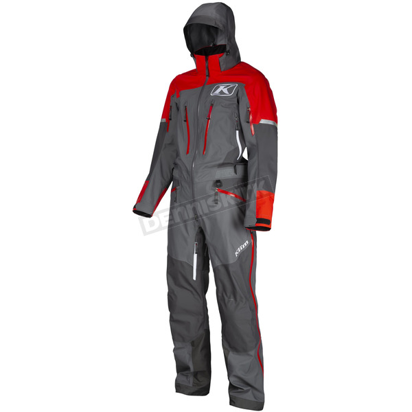 Klim Gray/Red Lochsa One-Piece Suit - 3262-001-120-600