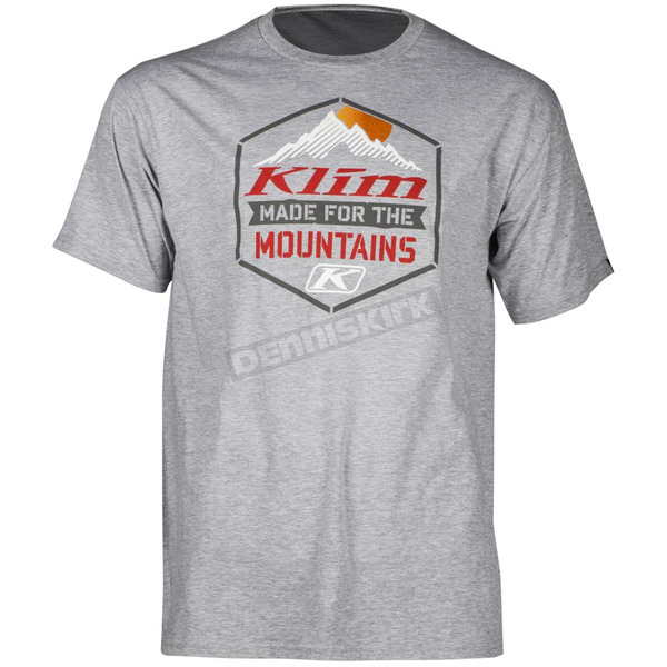 Klim Gray Mountain Made T-Shirt - 3950-001-130-600