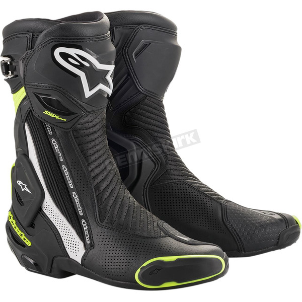 Black/White/Yellow SMX Plus Vented Boot - 2221119-125-38
