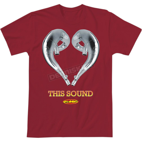 FMF Red Love This Sound 2 T-Shirt - SP9118997REDL