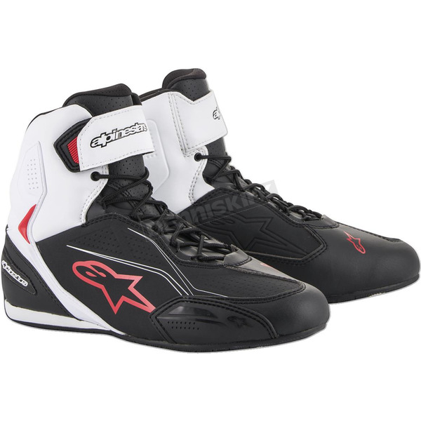 Black/White/Red Faster-3 Riding Shoe - 2510219123-10
