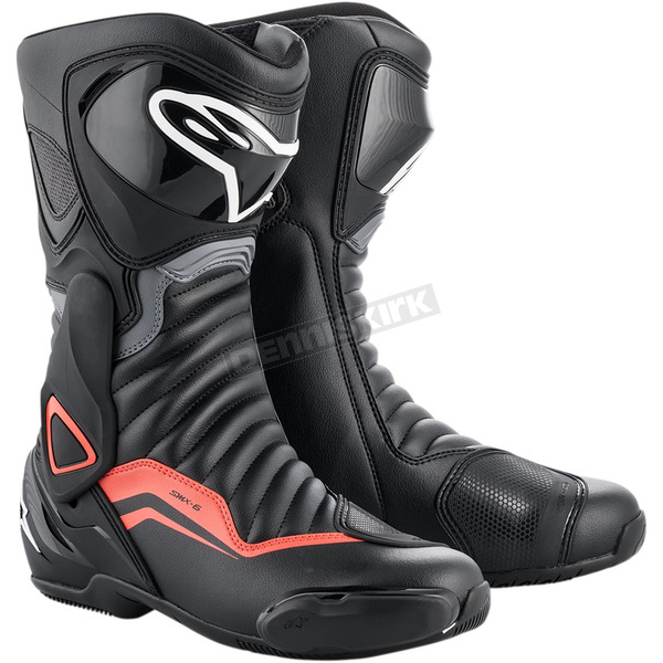 Black/Gray/Red SMX-6 v2 Boots - 2223017-1130-41