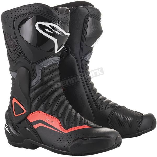 Black/Gray/Red SMX-6 v2 Vented Boots - 2223017-1133-40