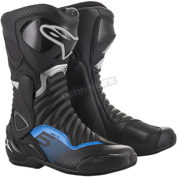 Black/Gray/Blue SMX-6 v2 Vented Boots - 2223017-1178-40