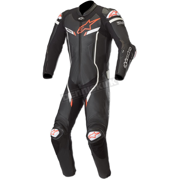 Black/White GP Pro V3 Leather Suit Tech Air Compatible - 3155019-12-46