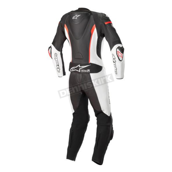 Black/White/Red Stella Missile Leather Suit Tech-Air Compatible - 3180119-1231-38
