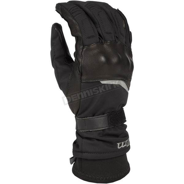 Klim Black Vanguard GTX Long Gloves - 3935-000-140-000