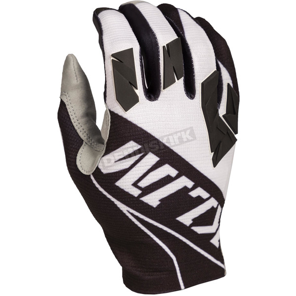 Klim White/Black XC Lite Gloves - 5002-003-140-080