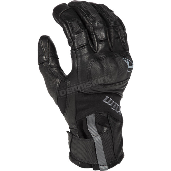 Klim Black Short Adventure GTX Gloves - 5031-002-130-000
