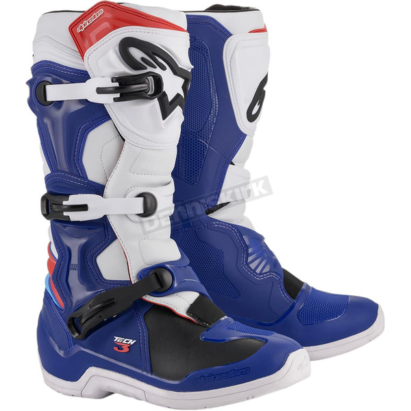 Blue/White/Red Tech 3 Boots - 2013018-726-10