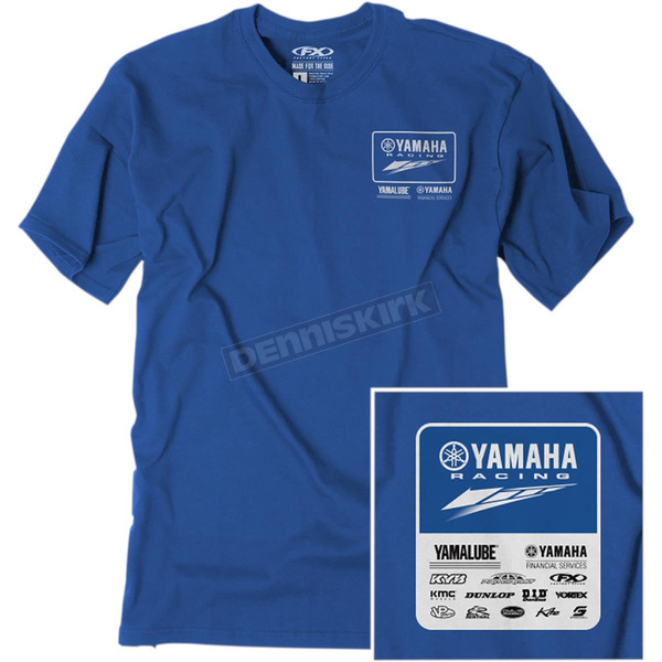 Factory Effex Royal Team Yamaha Pit T-Shirt - 22-87294