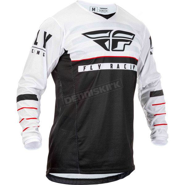 Youth Black/White/Red Kinetic K120 Jersey - 373-423YM