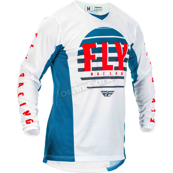 Blue/White/Red Kinetic K220 Jersey - 373-521M