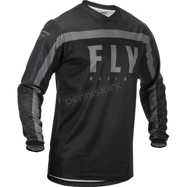 Youth Black/Grey F-16 Jersey