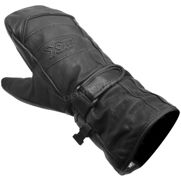 Black Maxigrip Leather Mitts - 534_BK_XL