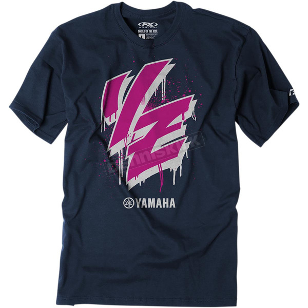 Youth Navy Yamaha Drip T-Shirt - 23-83204