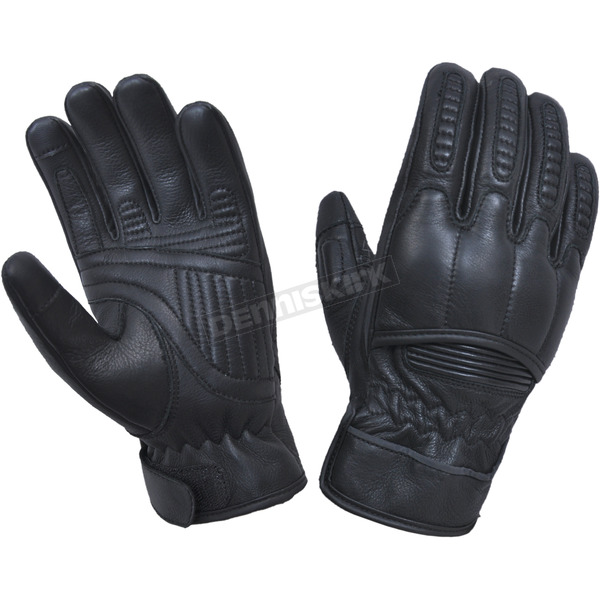 Men's Black Leather Gloves w/Aramid Fibers - 8169.00L