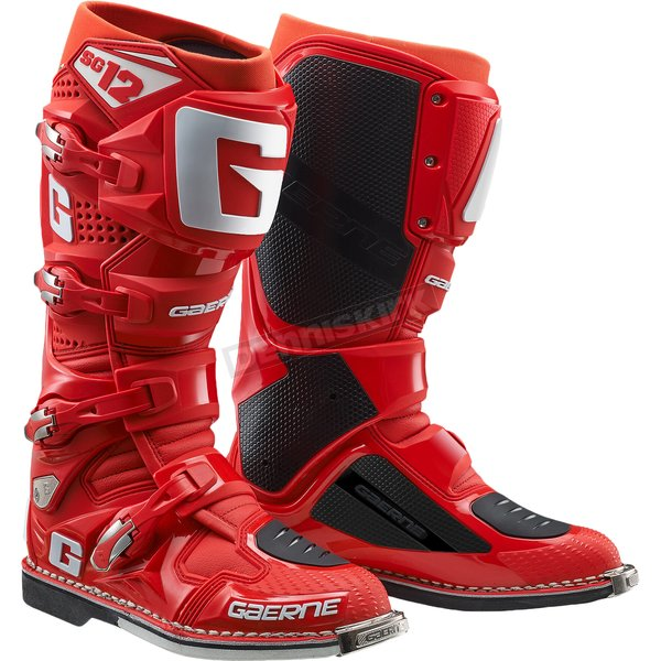 Solid Red SG-12 Boots