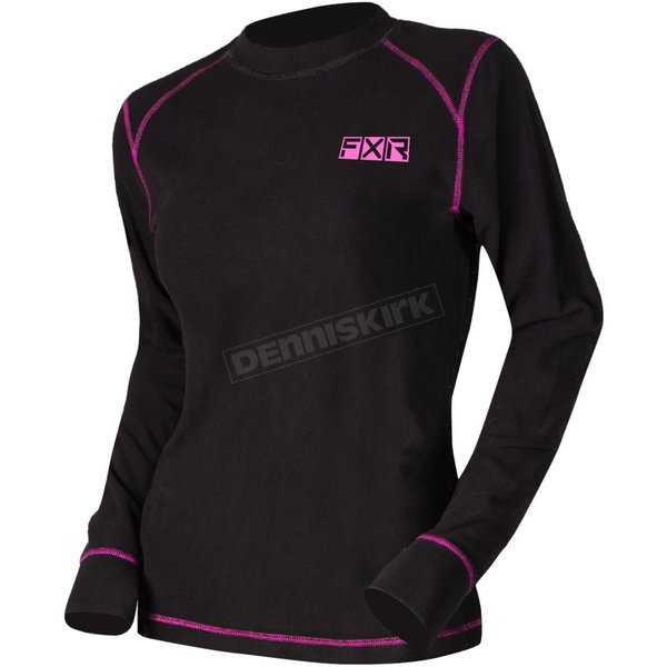 Women's Black/Electric Pink Pyro Thermal Longsleeve - 211462-1094-13