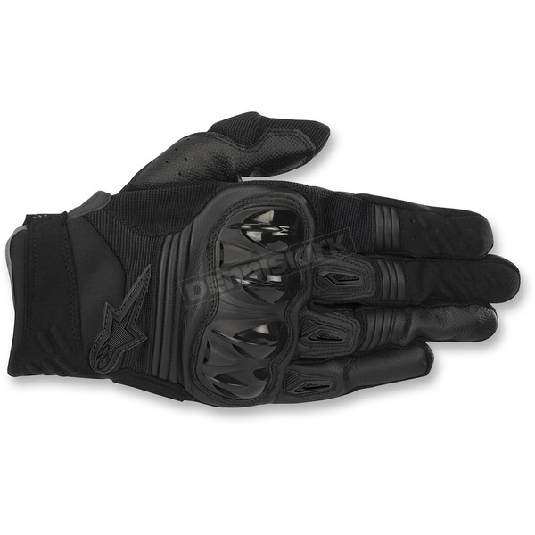 Alpinestars Black Megawatt Hard Knuckle Gloves - 3565018-10-MD