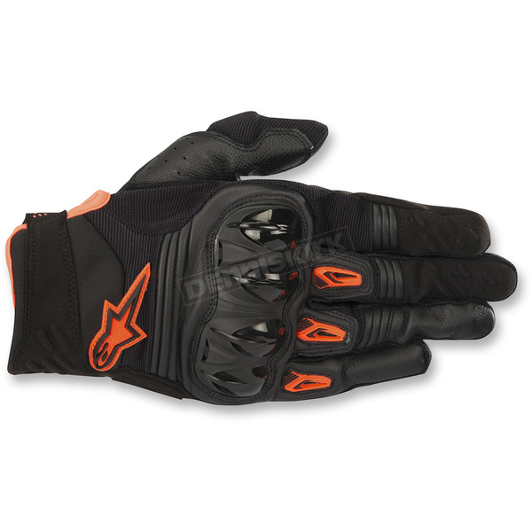 Alpinestars Black/Orange Megawatt Hard Knuckle Gloves  - 3565018-1056-2X