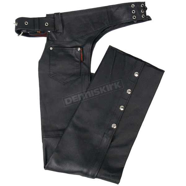 Hot Leathers Unisex Leather Chaps - CHM1001L