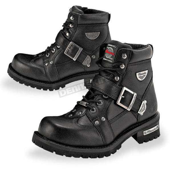 Milwaukee Motorcycle Clothing Co. Mens Road Captain Leather Boots - MB43324