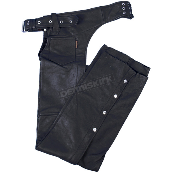 Hot Leathers Unisex Heavyweight Naked Leather Chaps - CHM1005XXXL