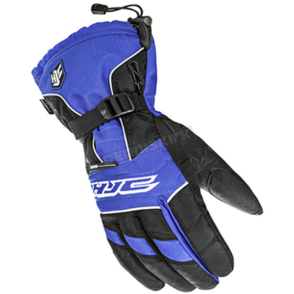 HJC Black/White/Blue Storm Gloves - 1511-026
