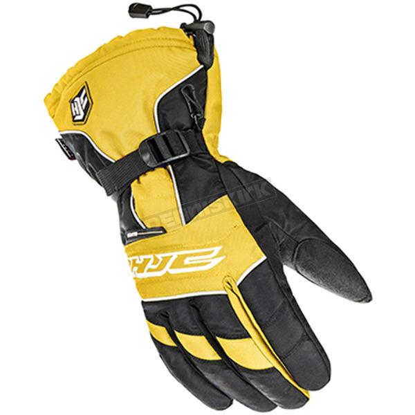 HJC Black/White/Yellow Storm Gloves - 1511-032