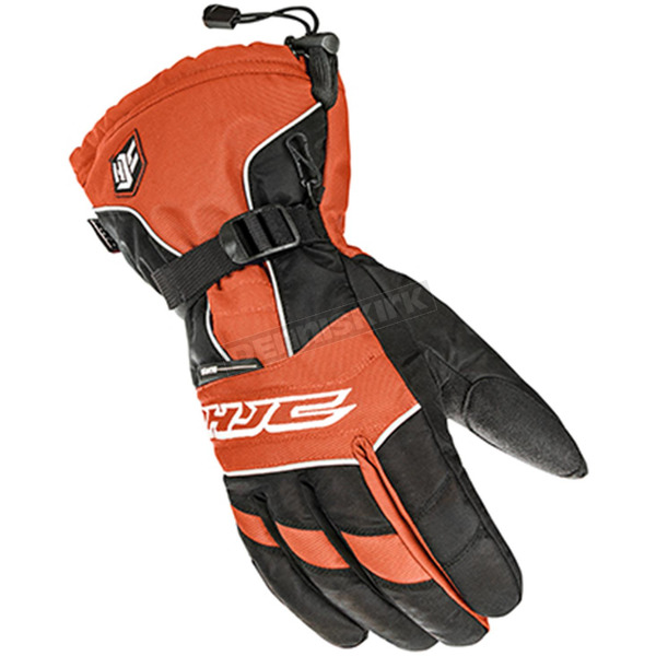 HJC Black/White/Orange Gloves - 1511-072