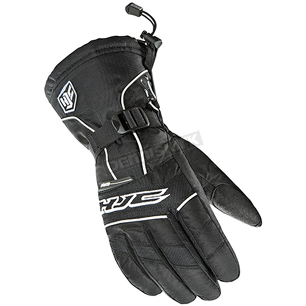 HJC Women's Black/White Storm Gloves - 1513-062