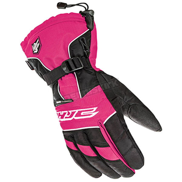 HJC Women's Black/Pink Storm Gloves - 1513-084