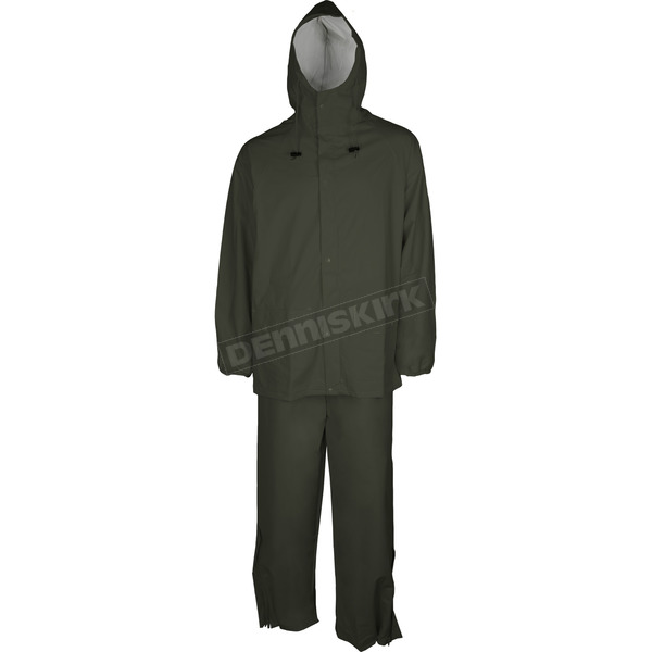 Mossi Olive Drab Youth SX PVC Rainsuit - 51-200YOD-YL