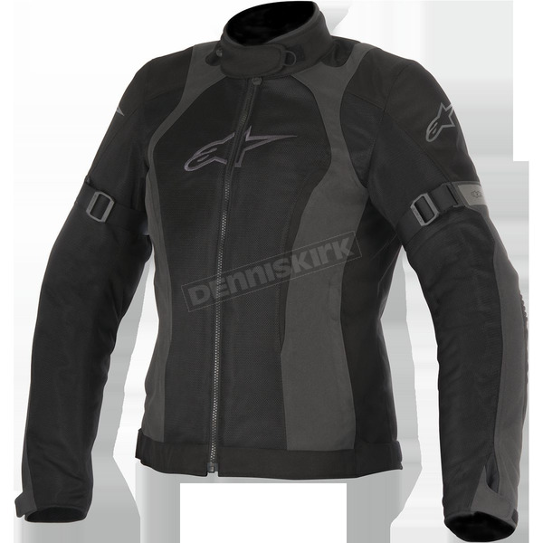Alpinestars Women's Black/Gray Stella Amok Air Drystar Jacket - 3217716-111-S