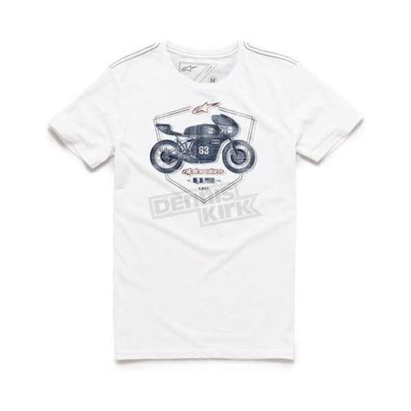 Alpinestars White Etch T-Shirt - 101673002020M