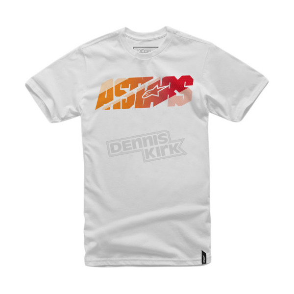 Alpinestars White Bars T-Shirt - 101672000020L