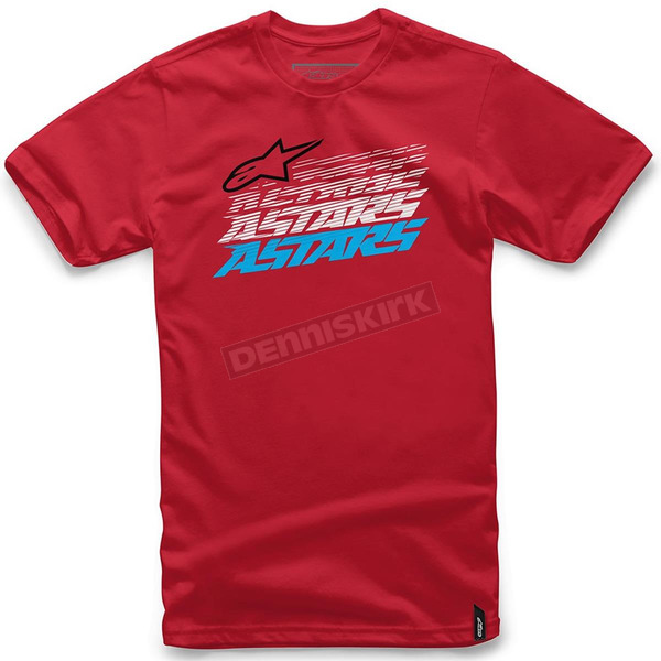 Alpinestars Red Hashed T-Shirt - 101672007030M