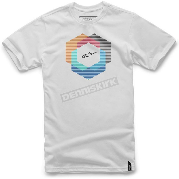 Alpinestars White Tesseract T-Shirt - 101672018020L