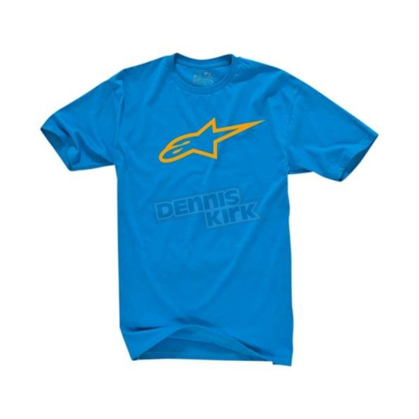 Alpinestars Turquoise/Orange Ageless T-Shirt - 1032720307640L