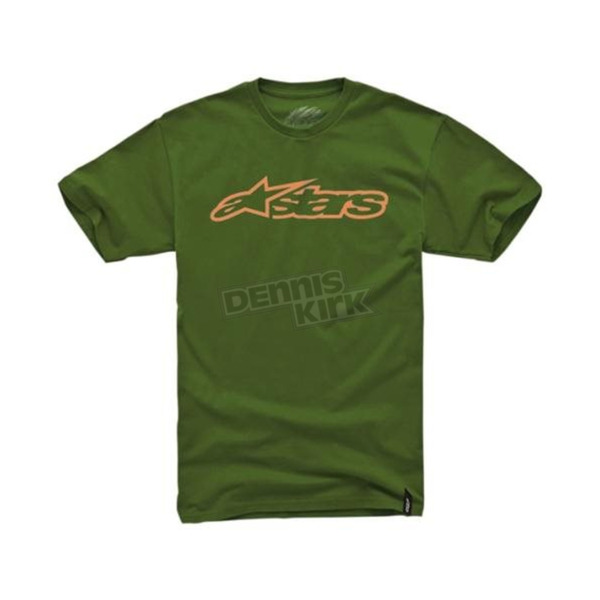 Alpinestars Green/Orange Blaze T-Shirt - 1032720326940S