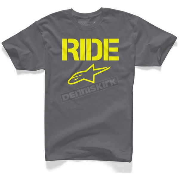 Alpinestars Charcoal Ride Solid T-Shirt - 102572007182X