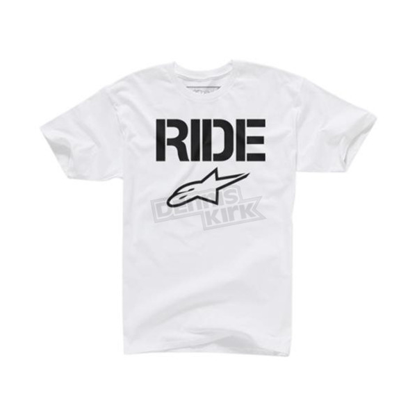Alpinestars White Ride Solid T-Shirt - 1025720070202X