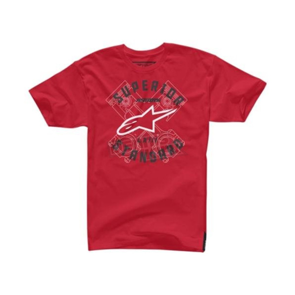 Alpinestars Red Scan T-Shirt - 1045720030302X