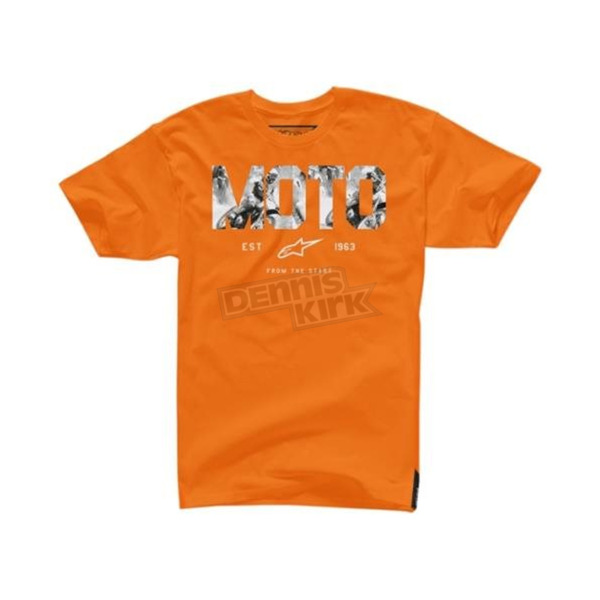 Alpinestars Orange Moto Start T-Shirt - 10457200740M