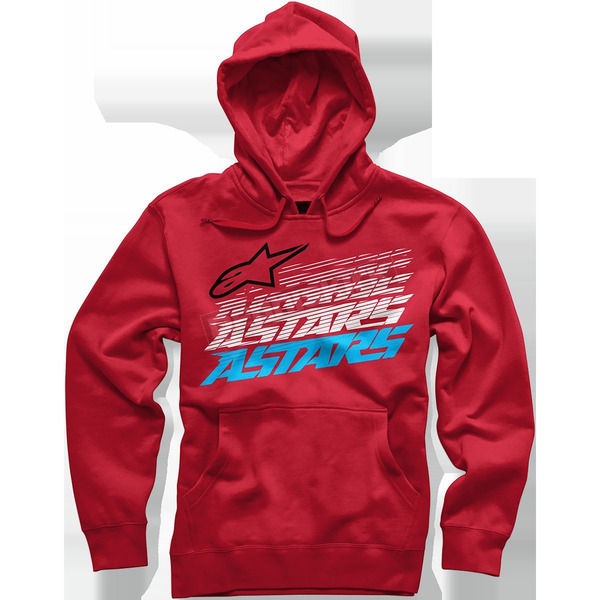 Alpinestars Red Hashed Hoody - 101652001030XL