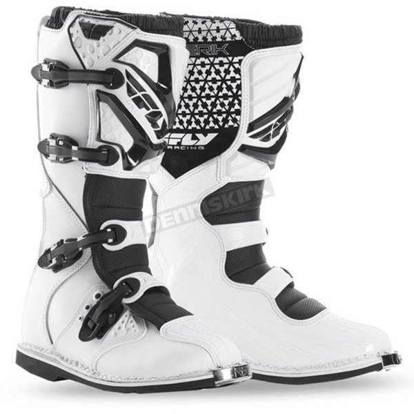 Fly Racing White Maverik Boots - 364-56408